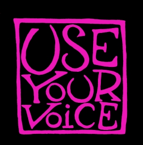 UYV pink on black